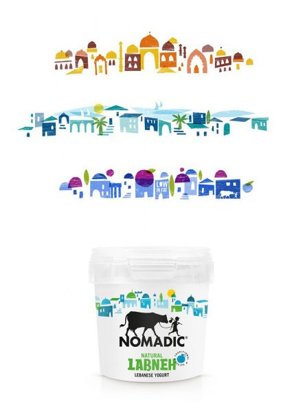 Nomadic rebranding illustrations