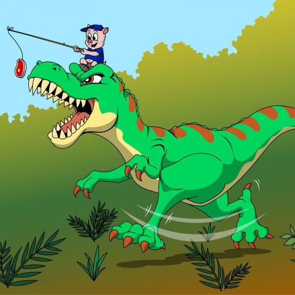 Oinky's Pet T-rex