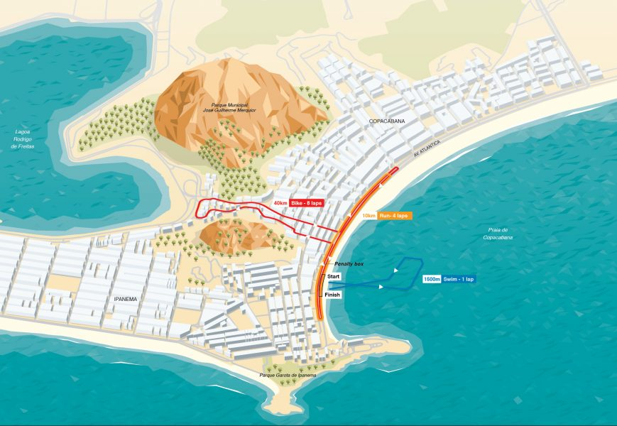 Olympic Triathlon route map