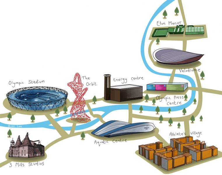 Olympic Village Map