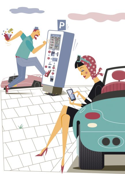 'Parking Apps': �modern convenience vs old-fashioned frustration.�