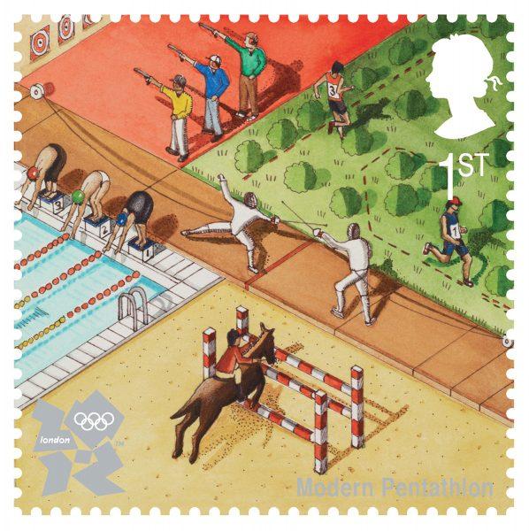 Penthalon Royal Mail Stamp