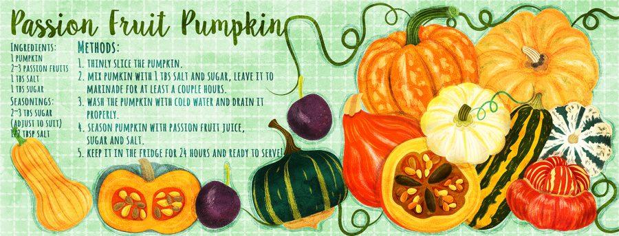Pickled Pumpkin Recipe Illustration