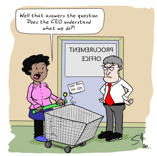 Procurement Cartoon Shopping