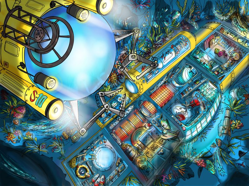 Professor Scarlet's Underwater Laboratory