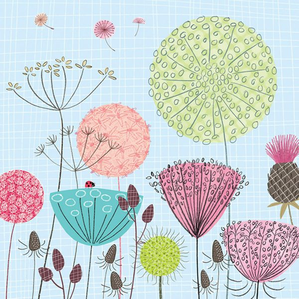 Retro flowerheads