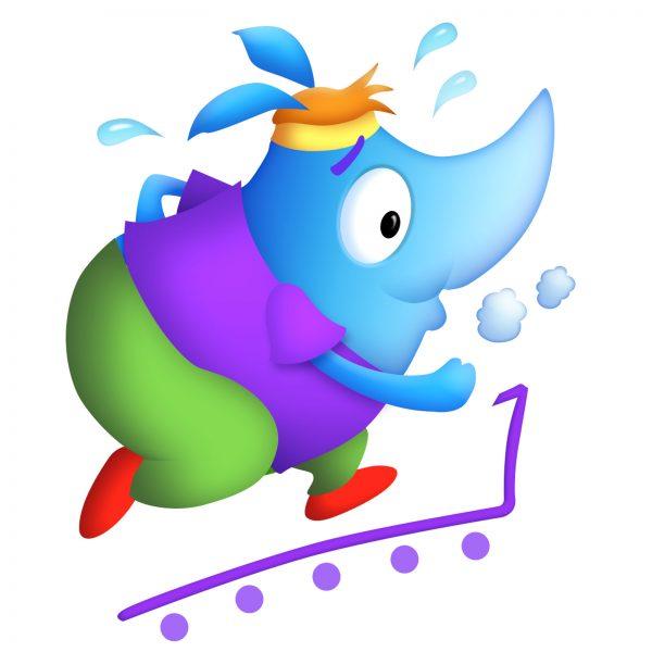 Rhino on Treadmill