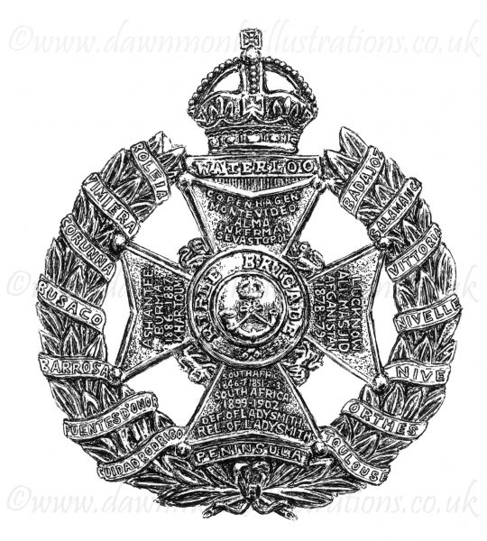 Rifle Brigade Regimental Cap Badge