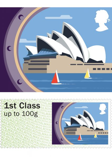 Royal Mail Sea Travel Stamps: Sydney