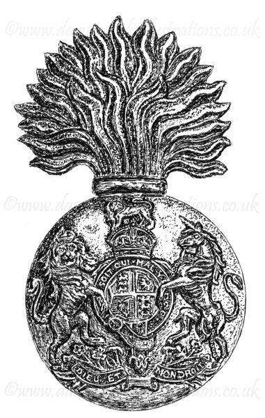 Royal Scots Fusiliers Regimental Cap Badge