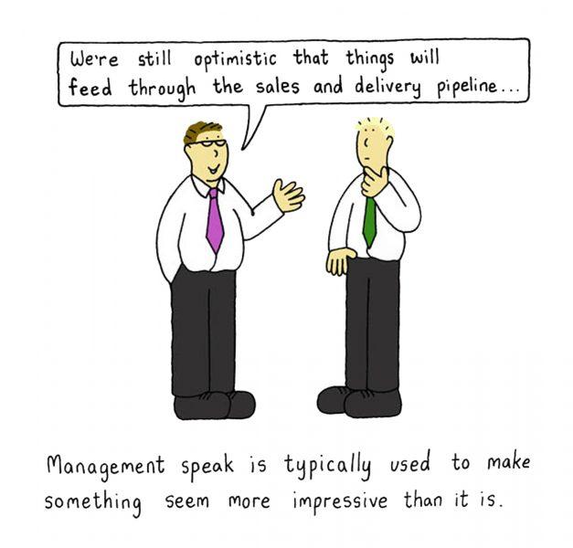 Sales talk.
