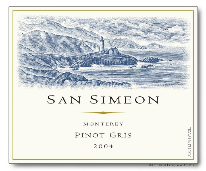 San Simeon Wine Label Illustration