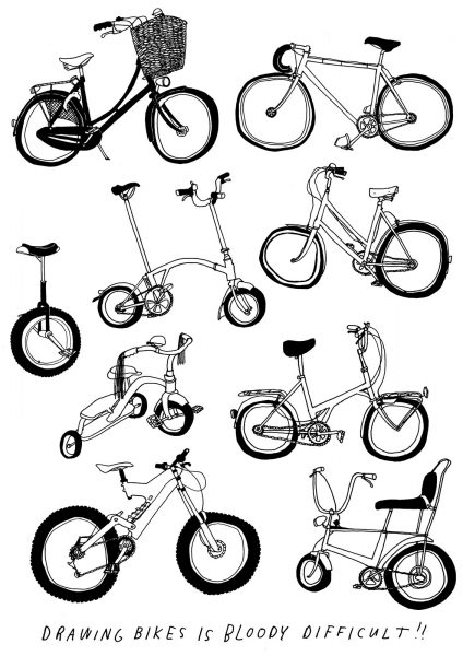 screenprint Wonk Bikes