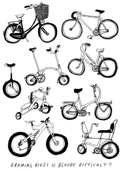 screenprint Wonk Bikes