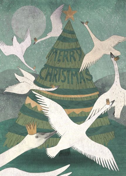 Seven Swans at Christmas