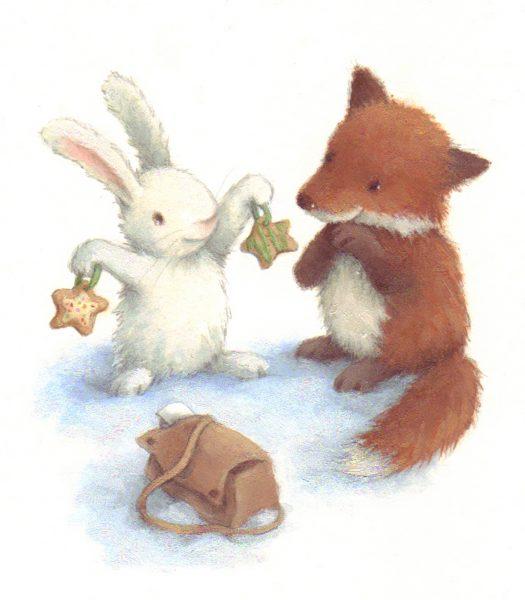 Snow Bunny& Little Fox