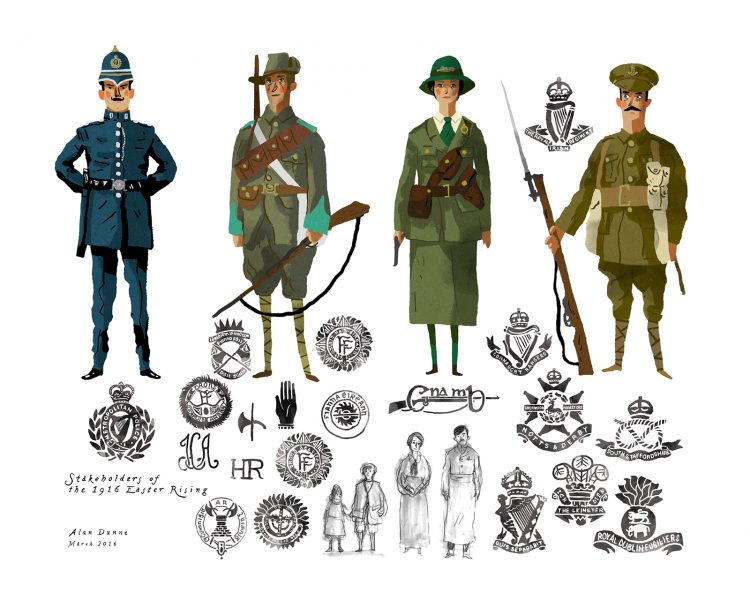 Stakeholders of the 1916 Easter Rising.