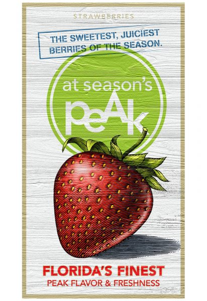 Strawberry at Season's Peak Poster