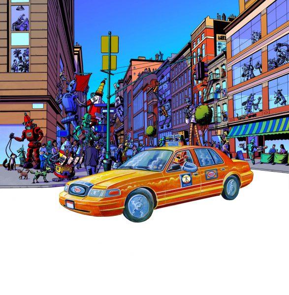 Street Scene Robot City