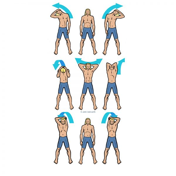 Surfer Stretch Exercise
