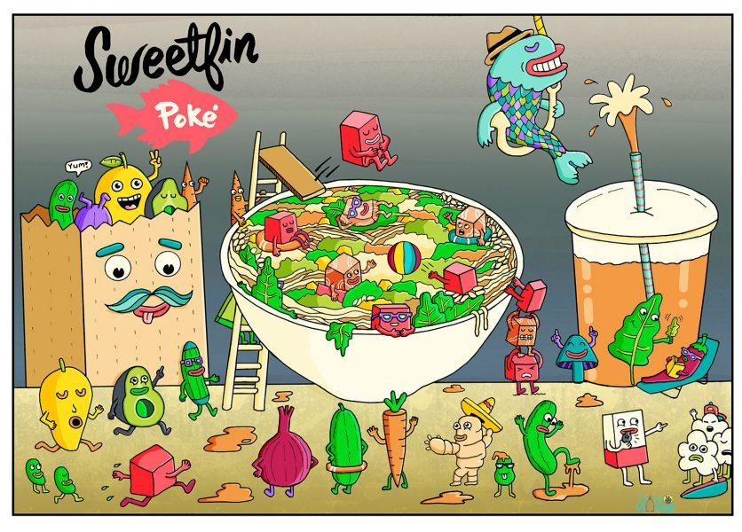 Sweetfin Poke Advertisement