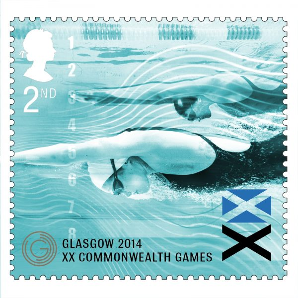 Swimming Royal Mail Stamps