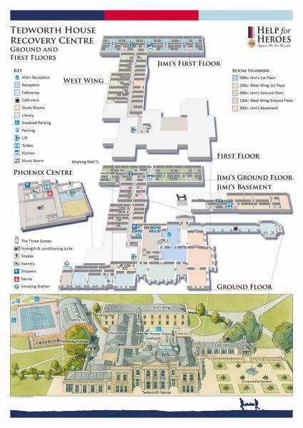 Tedworth House interiors plan