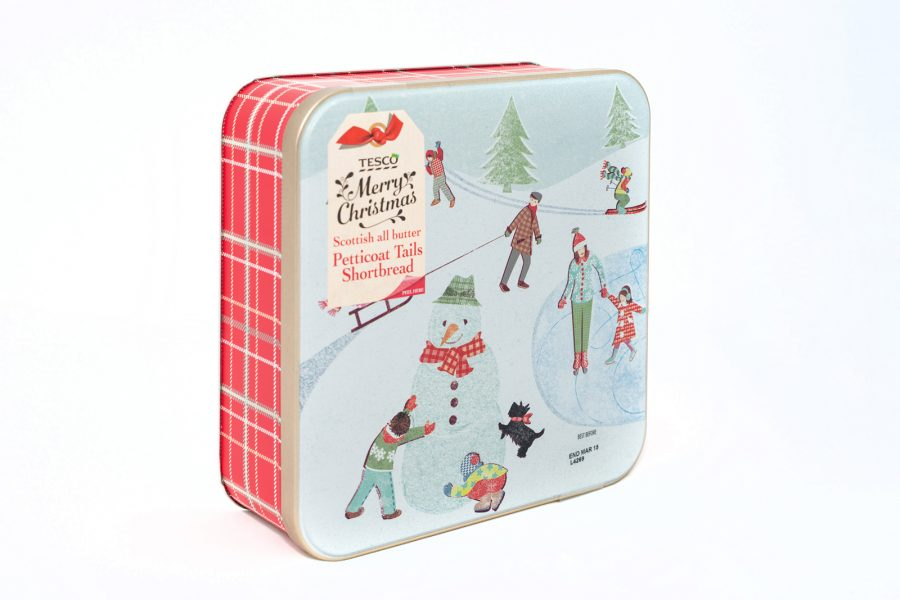 Tesco Biscuit Tin