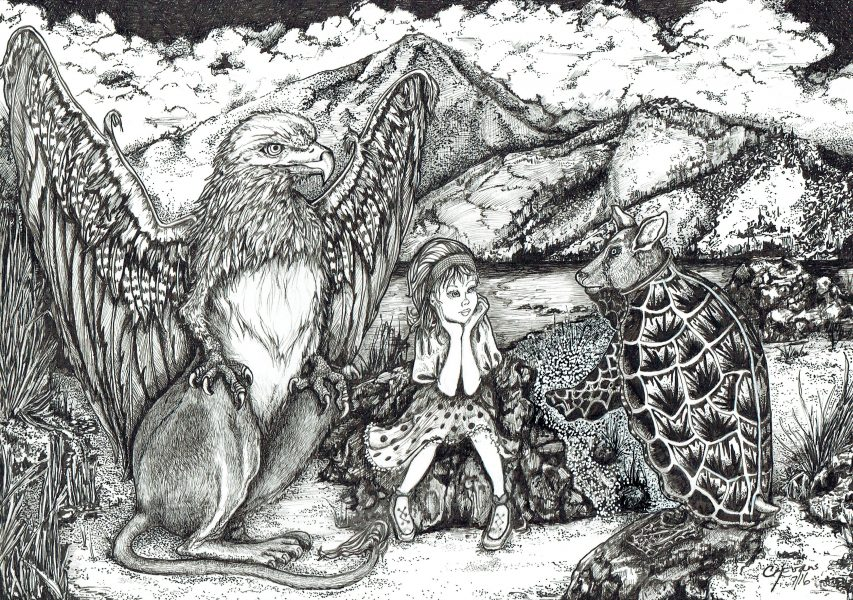 The Gryphon, Alice & Mock Turtle