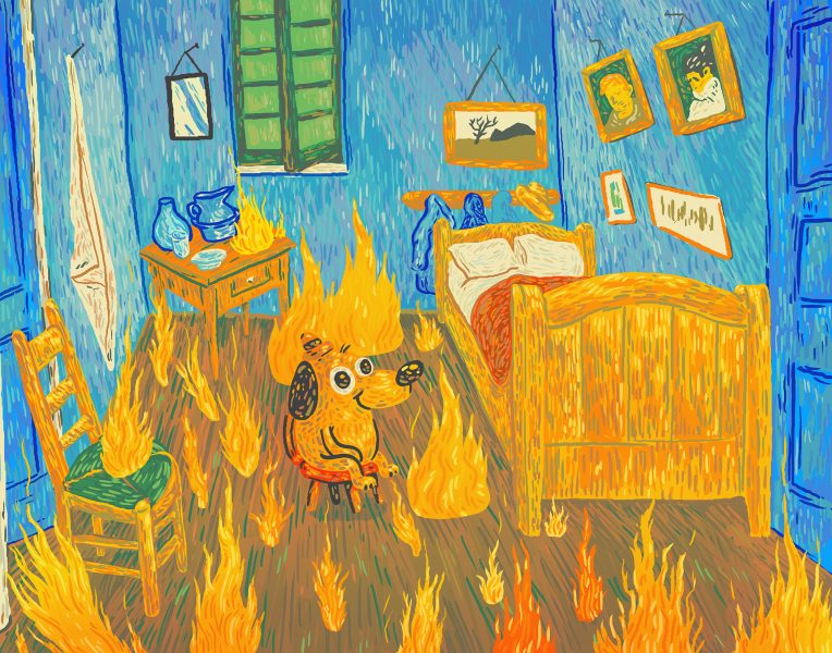 This is fine - Memes Art Show