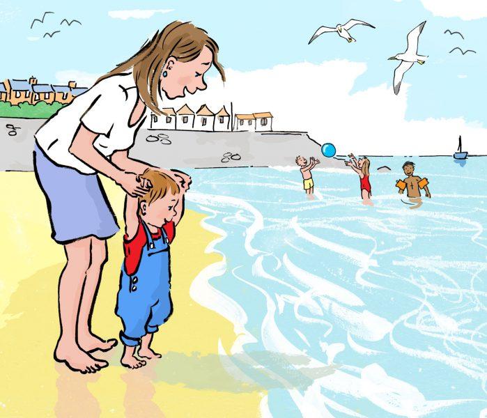 Toddler at the Seaside