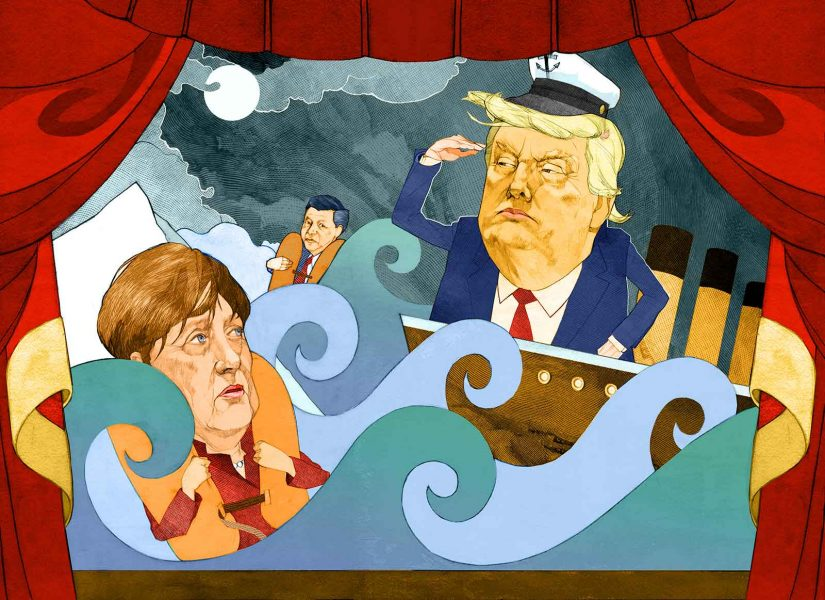 Trump all at sea
