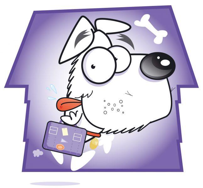 vector dog cartoon
