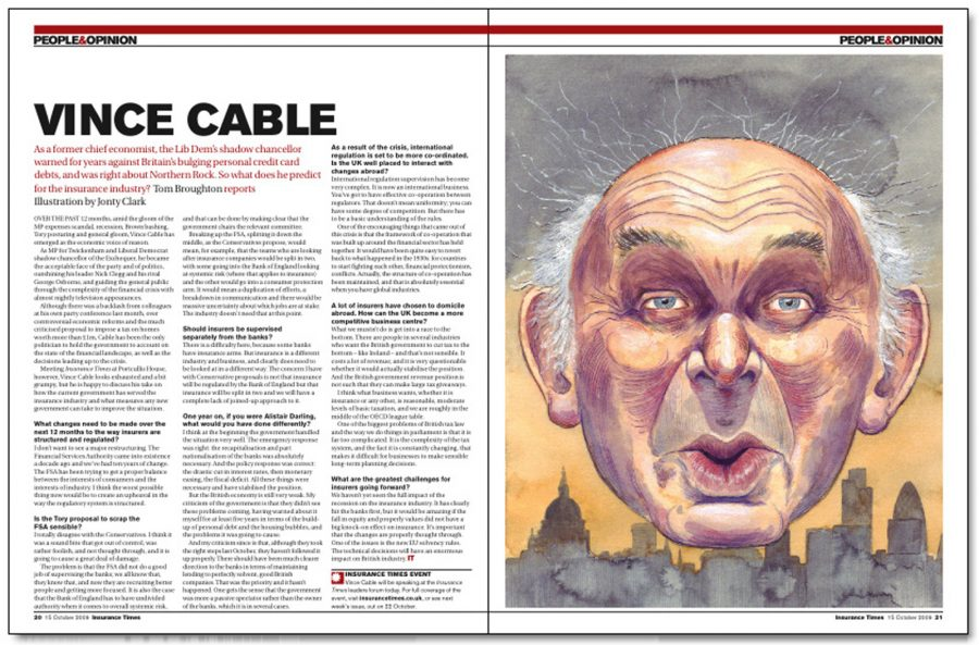 Vince Cable - Insurance Times