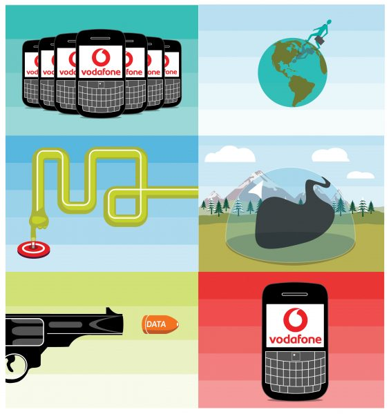 Vodafone Baclberry Business animations