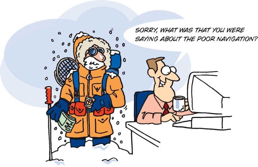 web design cartoon