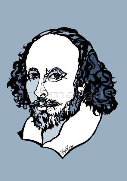 William Shakespeare | pen/ink/digital