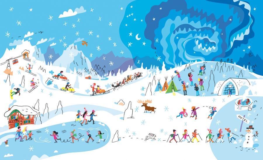 Winter holidays-Travel PR website