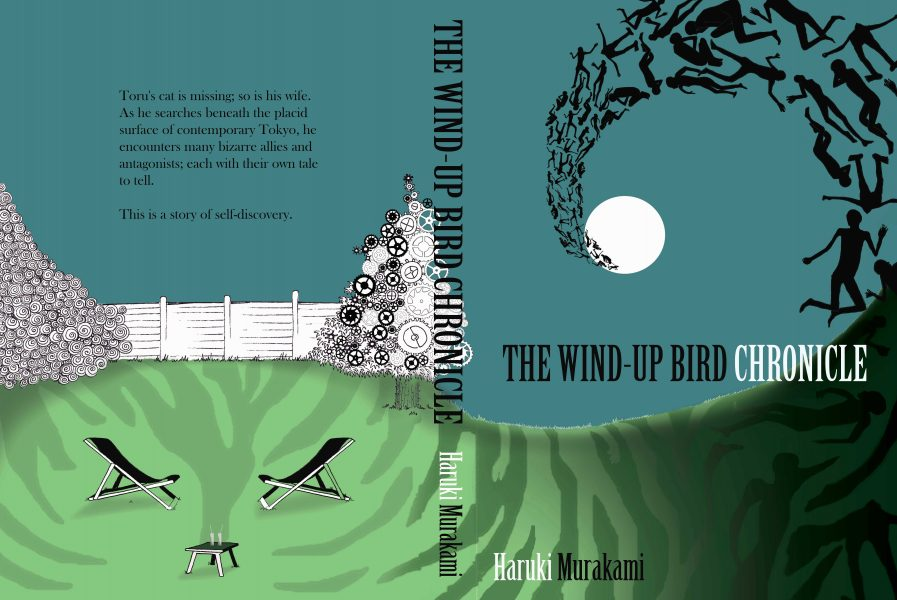 Book cover design for The Wind-Up Bird Chronicle