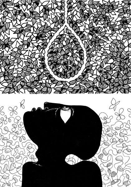 Fantasy Illustration in pen and ink