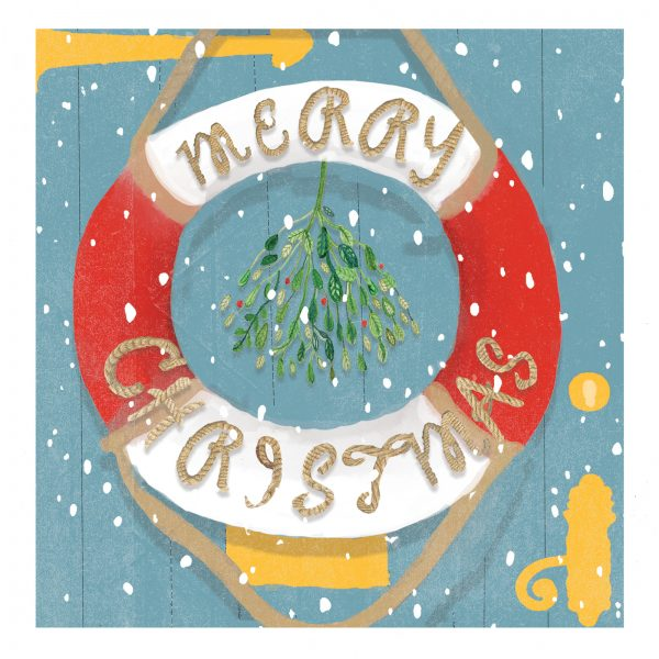 Sea themed Christmas card design