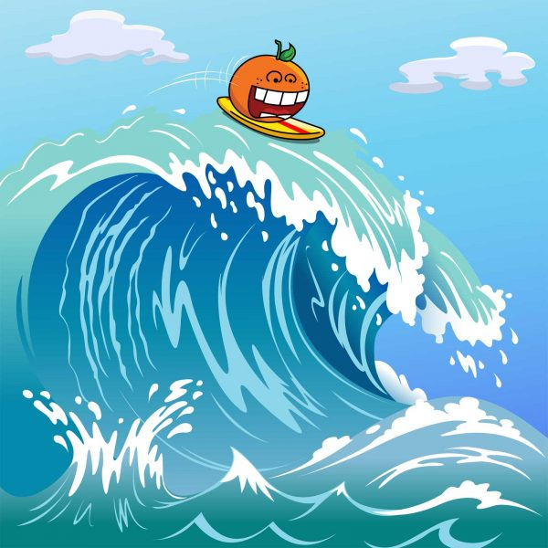Surfing Orange
