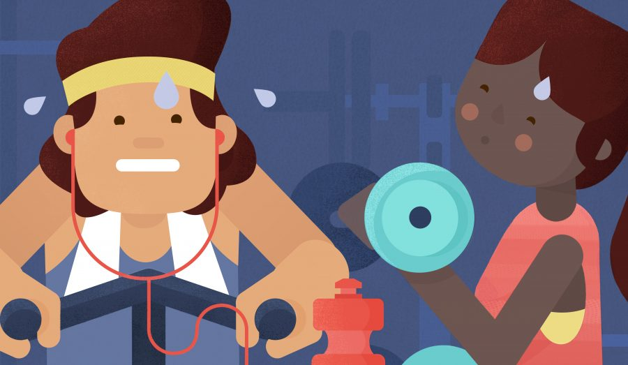 Waze, The Road to Fitness Editorial Illustration