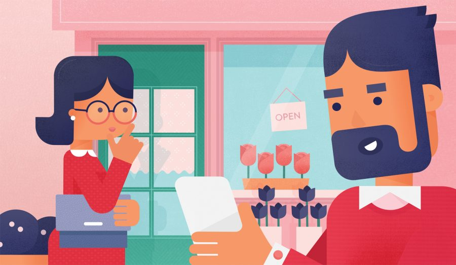 Waze, Valentine's Day Editorial Illustration