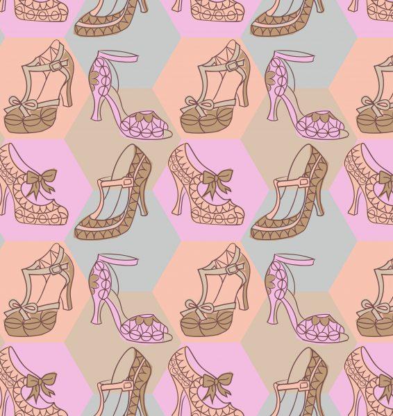 Vintage Shoes Pattern
