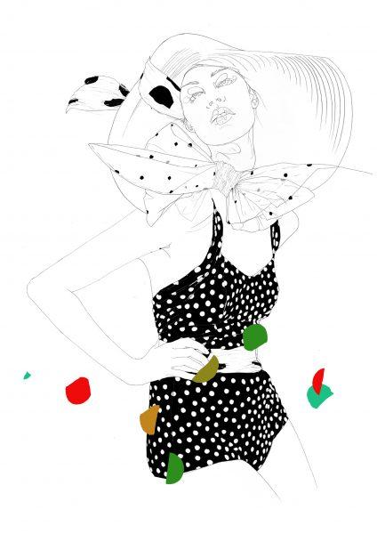 Vogue Sixties Swimsuit