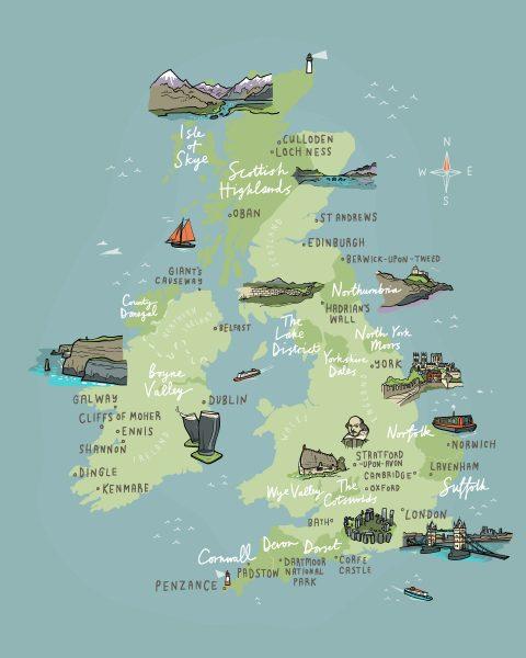 Wanderlust UK and Ireland Map