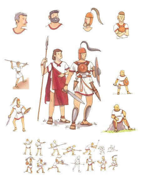Warriors. Characters design